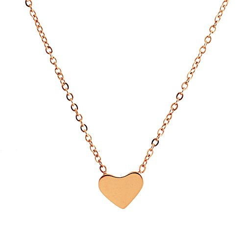 Lureme Minimal Retro Style Stainless Steel Simple Heart Pendant Necklace(01003214)