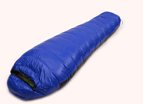 JSJDFPDC 1200G/1500G/1800G/2000G Abajo Saco de Dormir al Aire Libre Nueva Bolsa de Dormir Camping Montañismo ultraligeros Momia Fill Style,Red 1500G: ...