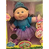 """Cabbage Patch Kids Glitz Girl with Adoptimals Key Brunette CurlyHair/Blue Eyes 14"""" Doll Exclusive Limited"""