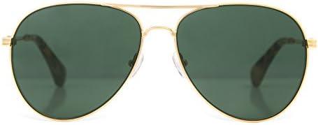 Sonix Women s Lodi Sunglasses, Gold Wire Olive, One Size