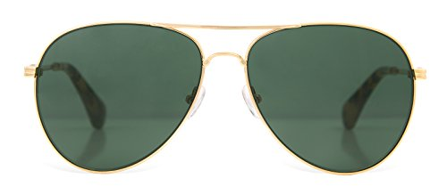 Sonix Women's Lodi Sunglasses, Gold Wire/Olive, One Size by Sonix