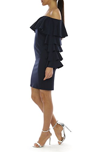 Damen Bling Lady Cocktailkleid Bling Dunkelblau wRq14nHx7