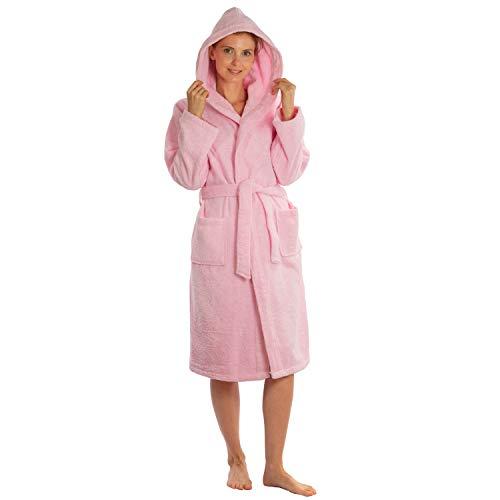 Silken Kids Teenagers Kids Girls Boys Hooded Bath Robe Unisex 100% Turkish Cotton (S/M 26