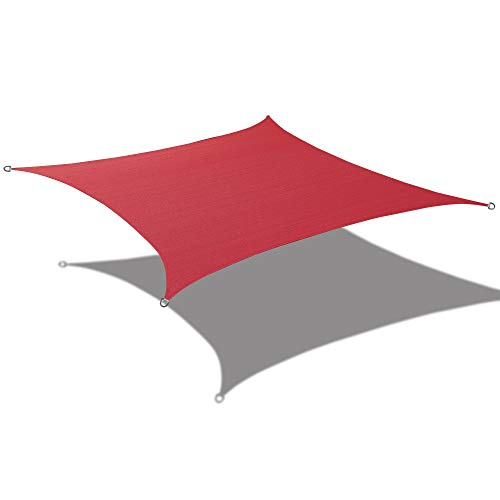 Alion Home Waterproof Woven Sun Shade Sail – Burgundy Red 9 ft 10 Square