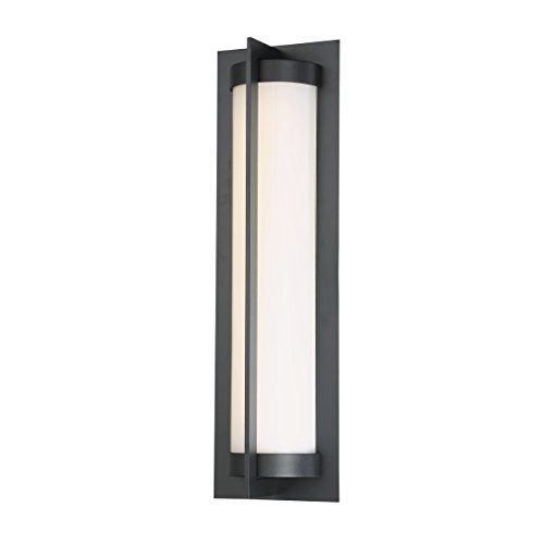 (WAC Lighting WS-W45720-BK Oberon 20