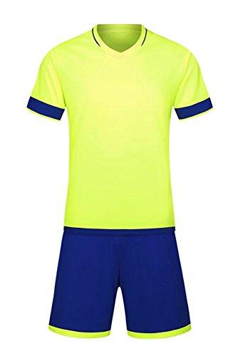 退化する音名義でKINDOYO ボーイズ メンズ スポーツウェア サッカー服 Tシャツ&ショーツパン セット チーム トレーニング コンペ スポーツ スーツ 7色 すべてのサイズ, グリーン/L-メンズ