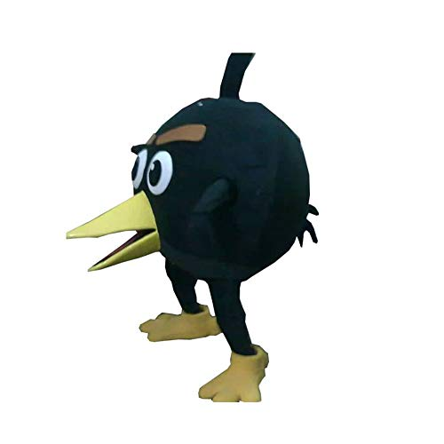 Bomb Angry Birds Black Mascot Costume Character Cosplay