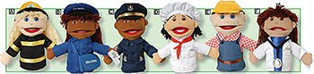 Marvel Education Company MTC-319 Multi-Ethnic Career Puppets for Kids