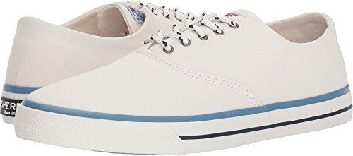 Sperry Top-Sider Men's Captains CVO Nautical Sneaker, White, 10.5 Medium US