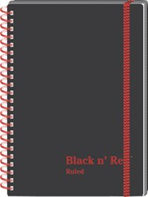 Black n' Red C67009 Twin Wire Poly Cover Notebook, Legal Rule, 8 1/4 x 5 5/8, White, 70 Sheets