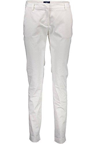 1701 Pantalon 110 Mujer 414936 Gant Bianco 8qwR40xz