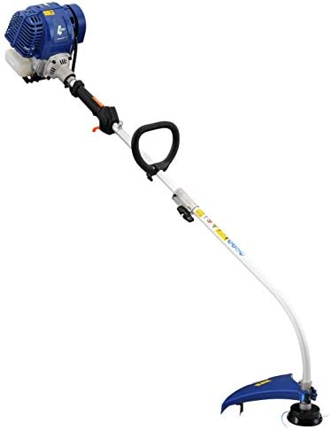 Wild Badger Power WBP31GTF 31cc Gas 4-Cycle Curve Shaft Attachment Capable Grass Trimmer, Blue