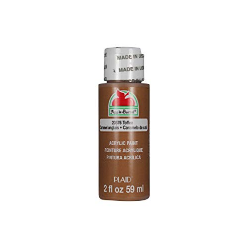 Apple Barrel Acrylic Paint in Assorted Colors (2 oz), 20576, Toffee
