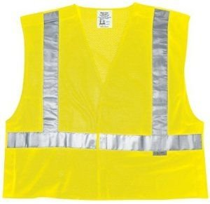 Tear Safety Vest Away (MCR Safety CL2MLX2 Class 2 Polyester Mesh Tear-Away Safety Vest with 3M Scotchlite 2-Inch Silver Stripe, Fluorescent Lime, 2X-Large)
