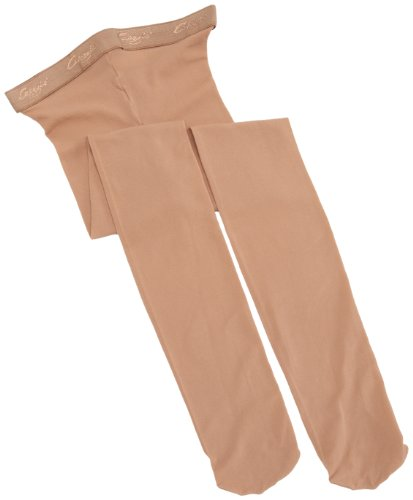 Capezio Big Girls' Hold & Stretch Footed Tight,Suntan,M (8-10) (Tights Capezio Dance Tan)