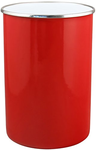 Reston Lloyd 82600 Calypso Basics by Enamel on Steel Utensil Holder, Red, Standard (Utensil Red Holder Kitchen)