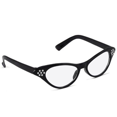 TRIXES Retro 1950'S Glasses Pink Lady Dame Edna Wing Tip Specs Plastic - 1950's Glasses