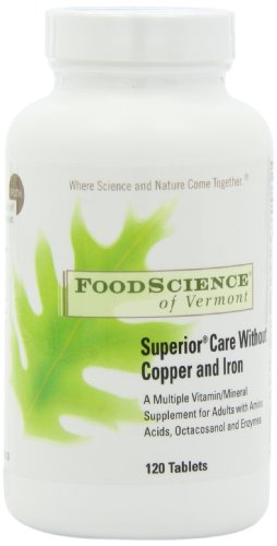 Food Science Of Vermont Superior Care without Copper and Iron Multi-vitamin Tablets, 120 Count