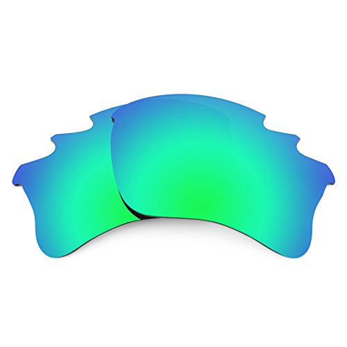 Revant Vented Polarized Replacement Lenses for Oakley Flak Jacket XLJ Emerald Green MirrorShield Asian - Xlj Lenses Flak Jacket G30