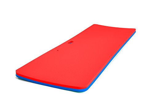 - Floatation iQ Personal Floating Oasis - Premium Floating Water Pad/Pool Mat/Lounger - Made in USA w/Durable (PE) Tear Resistant Foam (Red/Blue)