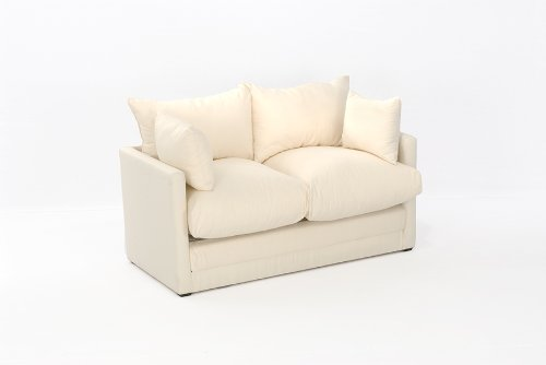 Leanne Sofa Bed in NATURAL Cotton Drill Comfy Living