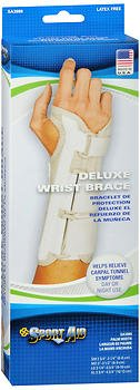 Sport Aid Deluxe Wrist Brace X-Large Left - 1 ea, Pack of 4 by SportAid