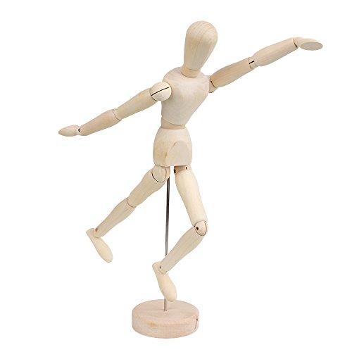 RDEXP 12 Inch Mini solid Wooden Unisex Art Human Manikin Mannequin Model by RDEXP