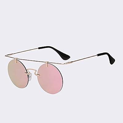 TIANLIANG04 Hommes pour femmes de lunettes sans monture Lunettes ronde Classic Steampunk Vintage lunettes UV400 de haute qualité
