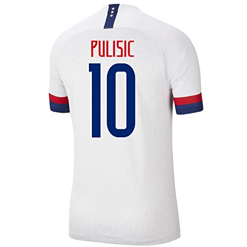 PULISIC #10 USA Home Men's Soccer Jersey 2019-20 (White) (L)