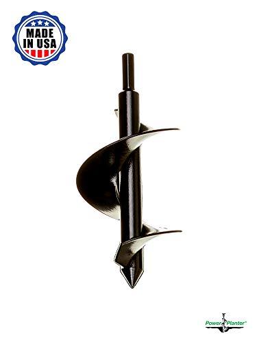 Power Planter 3″x7″ Bulb & Bedding Plant Auger Black