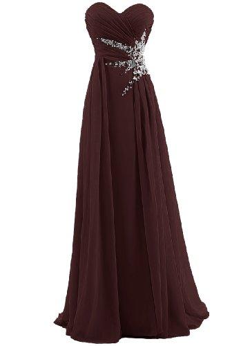 Dresstells® Sweetheart Beading Floor-length Chiffon Prom Dress Long Evening Gown Size 18W Burgundy