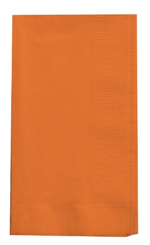Creative Converting Touch of Color 2-Ply 50 Count Paper Dinner Napkins, Sun-Kissed Orange (67191B)