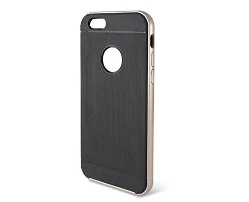 KSIX Flex b0925ftp12–Case TPU für Apple iPhone 6, goldfarben/Schwarz