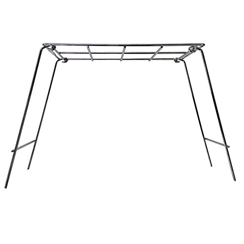 Rome Industries Inc Chrome 14 x 8 136 Pie Iron Grill Stand