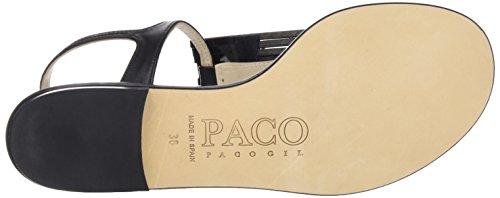 Paco Gil P3069 Damen Slingback Sandali Schwarz (nero)