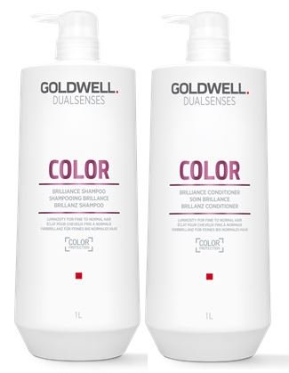 Goldwell Dualsenses Color Brilliance Shampoo & Conditioner Duo FadeStop Vibrant Protection - 33.8oz by Goldwell