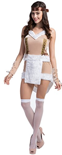 Sexy Tribal Princess Costumes (Fedo Design Women's Sacajawea Indian Tribal Native American Maiden Costume Tribal Princess)