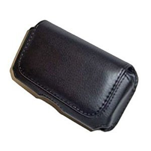 Executive Black Horizontal Leather Side Case Pouch with Belt Clip for Samsung i907(Epix), i617, Blackjack 2 / BlackBerry 8350i Curve, 9500, 9530 (Storm), 9000 Bold, 8330 Curve, 8310, 8800, 8300, 8830 / Motorola Q9c, Q9h, Q9m, Q / Apple iPhone, iPhone 3G