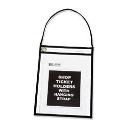 C-Line 41922 - Shop Ticket Holders, 9 x 12, Clear w/Black Stitching, 15/Box-CLI41922