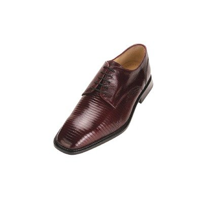 Belvedere Men's Olivo Exotic Shoes,Burgundy Lizard,15 M US