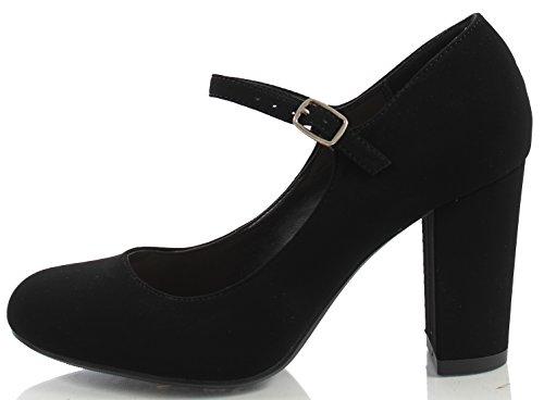 Black Strap Heel Block Toe Women's City Closed Classified Ankle wyAaO8Tq