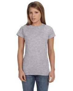 Junior girls softstyle t-shirt. (Sport Grey) (Medium)