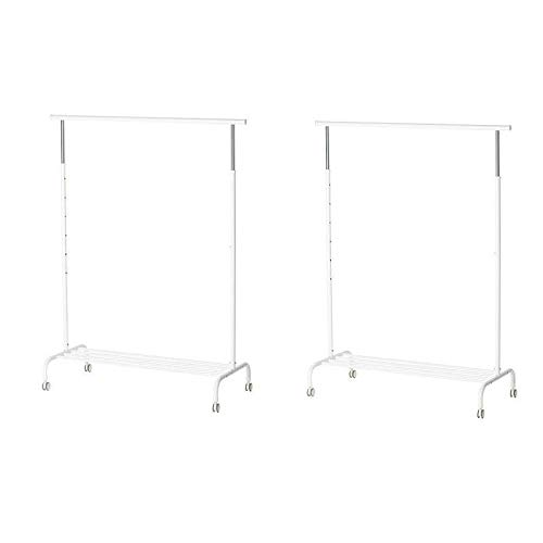 IKEA RIGGA- Perchero de pie, (altura máx.) 175 cm x 111 cm x 51 cm, color blanco, 1
