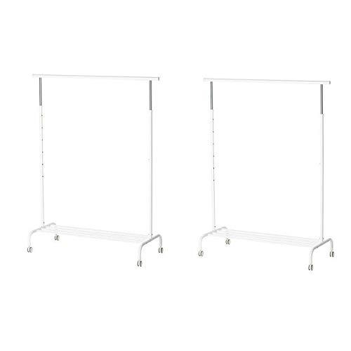 IKEA RIGGA- Perchero de pie, (altura máx.) 175 cm x 111 cm x 51 cm, color blanco, 2
