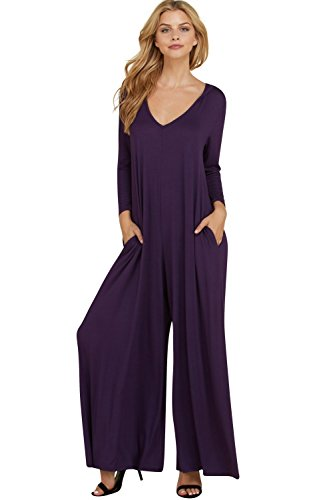 2ac842765f3af Annabelle Women's 3/4 Sleeve Solid Jumpsuit with Round Neck and 3/4 Sleeves.  found at Amazon