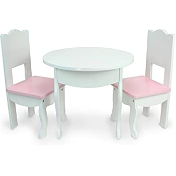 Superb Sophiau0027s Doll Table U0026 Chairs Set By, Fits American Girl Dolls And More,  White