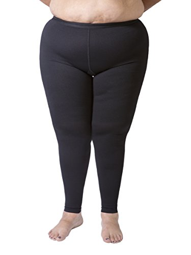 6ab7ef2df7446 Opaque Graduated Compression Extra Firm Support (20-30mmHg) Plus Size Footless  Microfiber Leggings