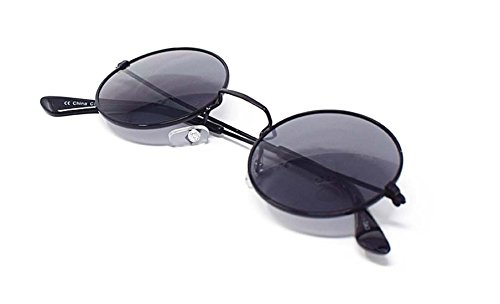 Vintage Classic Con Gafas Elton Unisex Mujeres Hombres John Eyewear Calidad Retro Lennon Marco Estilo Negro Redondo Lentes UV400 de Adultos Sol Pequeño Humo 6A10qAT