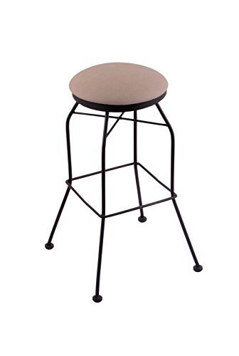 Cheap Holland Bar Stool Co. 3020 25″ Counter Stool with Black Wrinkle Finish and Swivel Seat, Rein Thatch