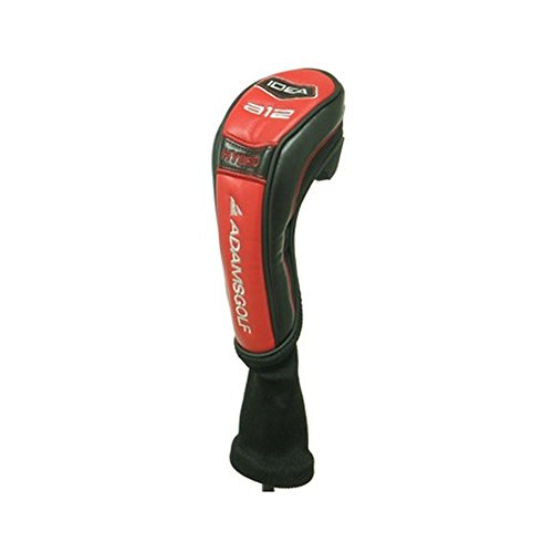 (Adams Idea A12 Hybrid Headcover (Red/Black) Rescue Golf Cover )